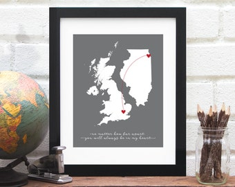 Etsy world map hearts brazil and us custom map etsy gumiabroncs Images