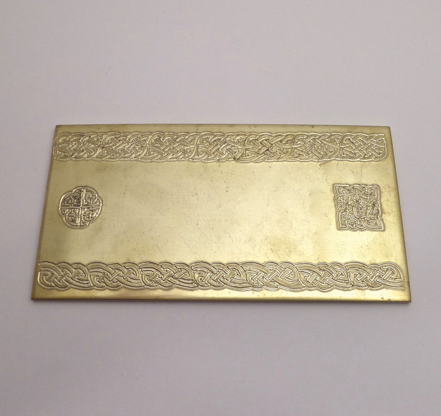 Celtic Rolling Mill Texture Embossing Plate 3 x 6