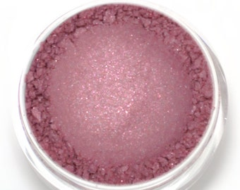 "Rose with Pink and Turquoise Shimmer Eyeshadow - ""Pixie"" - Vegan Mineral Makeup"