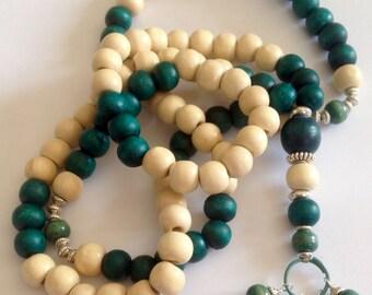 Turkish Islamic 99 Prayer Beads, Tesbih, Tasbih, Misbaha, Sufi, Worry Beads, wood