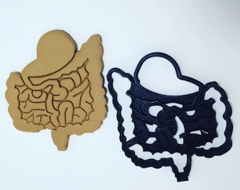 Gut Stomach Intestines Cookie Cutter 3D Printed