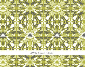 Silent Cinema Starlet Fabric in Green by Jeanean Morris for Free Spirit 1 yard