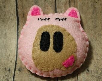 Pig ornament-Felt Pig Christmas ornament-Farmhouse decor-Pig decor-Hog ornament