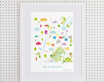 Map of Winchester Art Print
