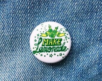Make lemonade hand drawn typographic badge
