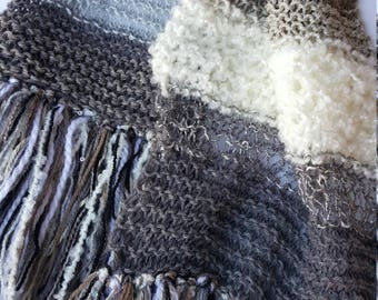 Women's Garter Stitch Knit Scarf
