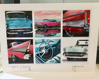 1957 Chevy Photo Card (blank w/ envelope)