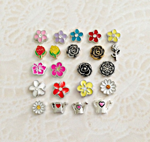 Garden Charms: Flowers And Garden Floating Charms