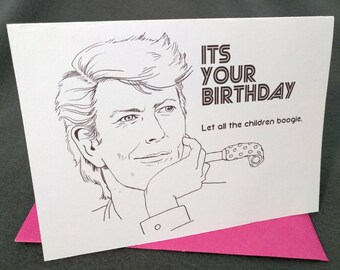 January 8th- David Bowie - Born on Your Birthday Card