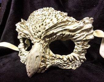 Owl mask, masquerade mask, costume mask, fantasy, forest creature, owl mask, bird, custom made,