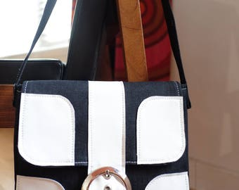 60s 70s vintage style denim handmade handbag