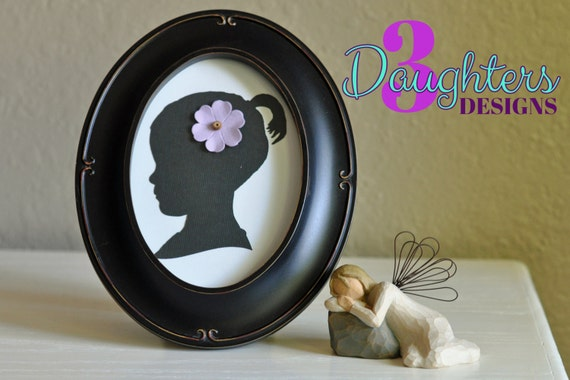 Add On Oval Frame for Custom Silhouette; Black or Champagne; Fits ...