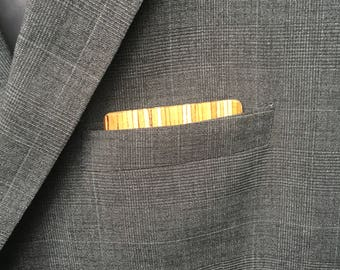 Wooden Reversible Pocket square - Lined