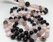 Pink and Black Mala Beads...