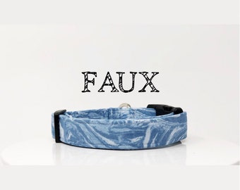 Marble Inspired Dog Collar