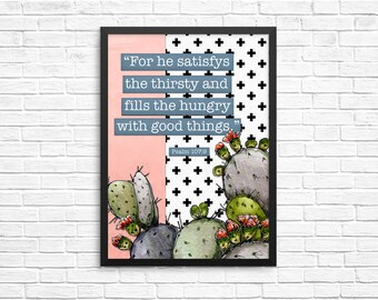 Psalm 107:6 -12x16 Print