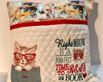 KITTEN Reading Pillow