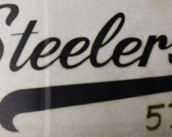 Vintage Pittsburgh Steelers Iron On Transfer