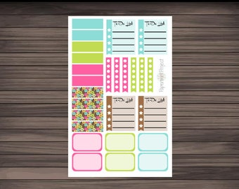 Bright Floral Planner Set