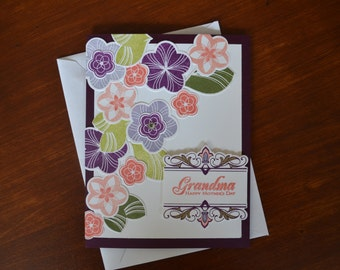 Floral Grandma Mother's Day Card