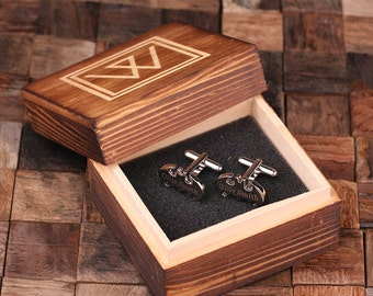 Batman Personalized Men's Superhero Classic Cuff Links Monogrammed Engraved Groomsmen, Best Man, Father's Day Gift