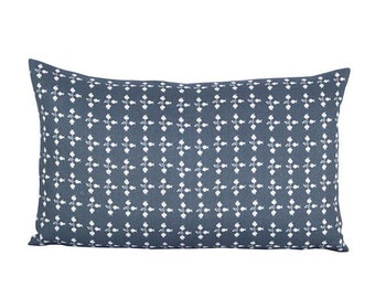 Pom lumbar pillow cover in Byzantine