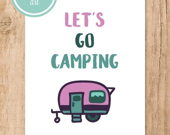Let's Go Camping Printable Art