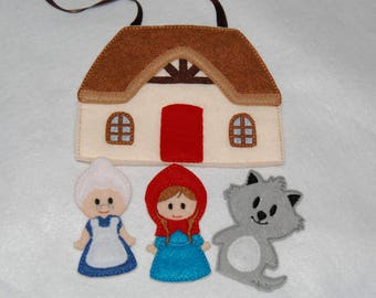Red Riding Hood Finger Puppets Play Set