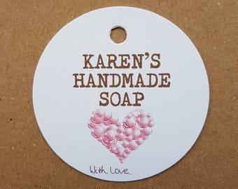10x Personalised Handmade soap tags, handmade soap tags, swing tags, gift tags, handmade labels, tags, labels, personalized swing tags, soap