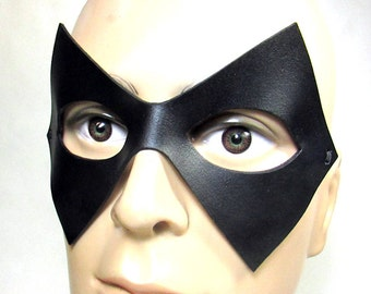 Leather Superhero Mask / Trickster / Leather Mask / Super villain / Handmade / Cosplay Mask / The Flash / Costume Mask/ Adjustable Cord