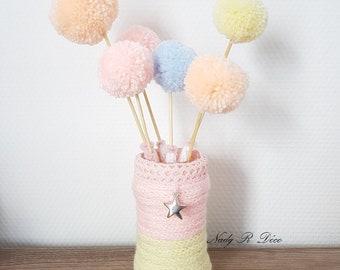 "Decoration ""Bouquet of Bobbles sweets"" assorted pastel colors"
