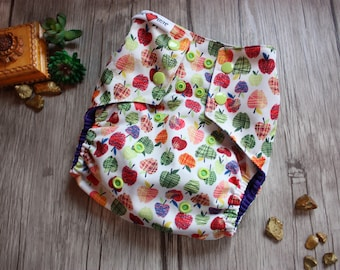 One size cloth diaper APPLE