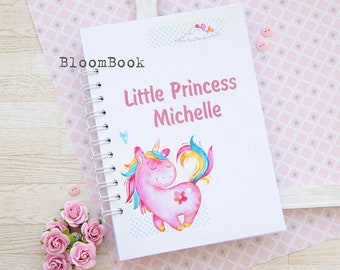 Baby memory book girl Baby book girl Baby album Baby Journal Baby shower gift Newborn gift Scrapbook album Baby 1st book Unicorn Princess