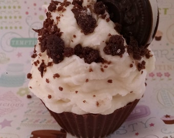 Cookies N Cream, Cupcake Candle, Oreo Candle, Bakery Sweet Scent, Food Candle, Unique Gift, Creative Candles, Soy Wax Candle, Handmade