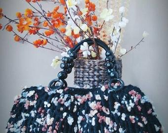 Floral Wool handbag