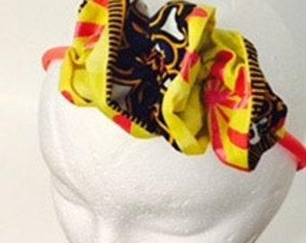 African Ankara Print Ruffles headband