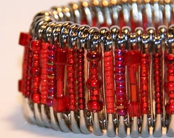 Scarlet Heart - Safety Pin Bracelet