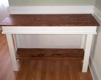 Rustic Farmhouse Sofa Table/ Console Table/ Side Table