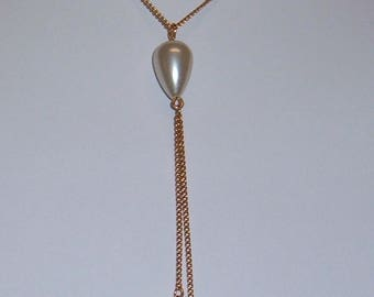 ANTIQUE Sarah Coventry Jewelry -   Satin Magic Larial Necklace  #8076