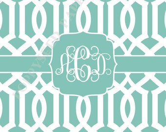 Monogram note cards- Thank You Notes- Personalized monogram folded note cards, stationery