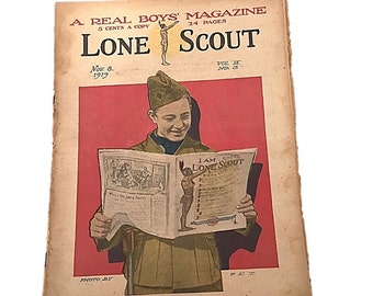 Lone Scout Newspaper |  The Real Boys Magazine |  November 8 |  1919 |  Photos by PET   Teen