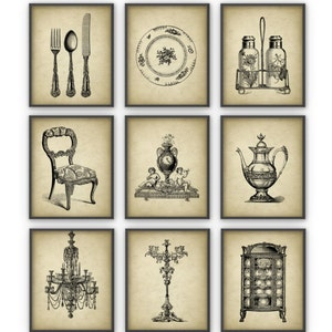 Dining Room Art Prints Set Of 9