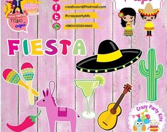 Props Mexico Mexican Fiesta Kit #Imprimible (#Accesorios) #DIY PhotoBooth