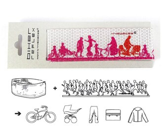 Bike accessories BIKER, reflective ribbon ankle leg strap band, biker gift, gift biking, safety biking, trouserband reflex, bicycle gift