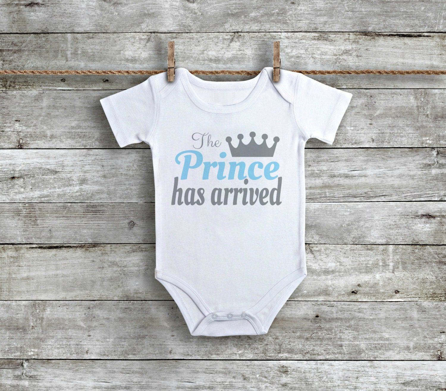 Prince Has Arrived Newborn Boy Bodysuit Baby Boy Clothes
