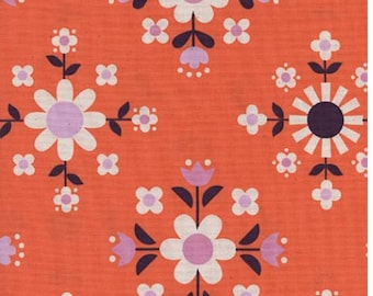 Cotton + Steel- Florametry in sweet orange- Welsummer- Kim Kight