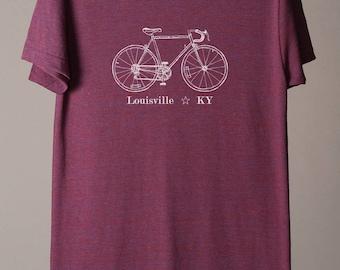 Louisville shirt, Louisville tee, Louisville Kentucky tshirt, Louisville KY cycling tee, bike tee