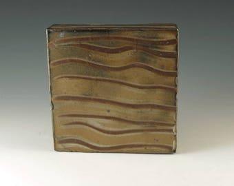 Modern Decor, Handmade Pottery Wall Tile, Ceramic Wall Sculpture, Home Decor, Bathroom Art, Wall Art Decor, Office Decor, Ceramic Box, W022