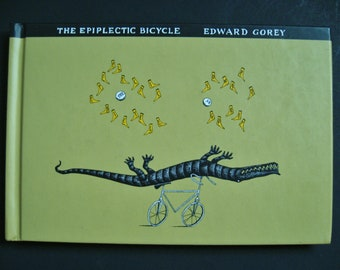The Epiplectic Bicycle by Edward Gorey 1997 Hardcover Burlesque Book First Printing