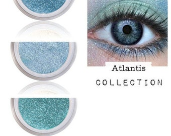 Eye look, Blue Green Shimmer, Make Up For Eyes, Natural Eyeshadow, Rich Pigment, Summer Beauty, Makeup Tutorial, Beach Sea Ocean, ATLANTIS
